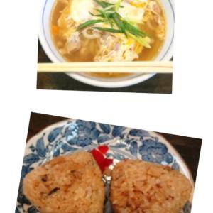 鶏南うどん+椎茸ごはん