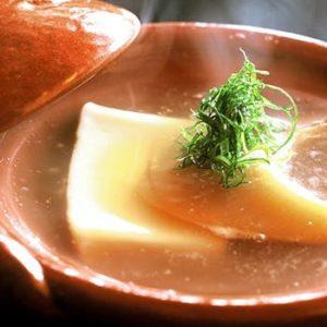 フカヒレの煮込みとごま豆腐